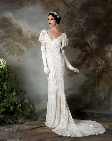 Bäst säljande 20-tal-Vintage brudklänning