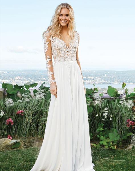 Bäst säljande bohemisk brudklänning
