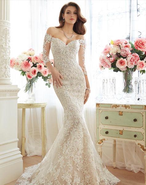 Bäst säljande exklusiva brudklänning