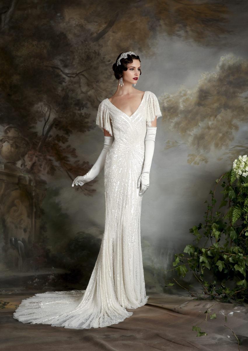 20-tal Vintage brudklänning 001