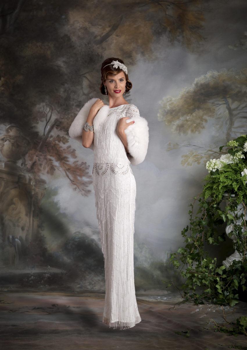 20-tal Vintage brudklänning 002