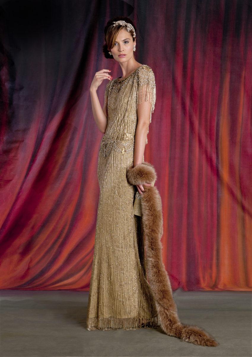 20-tal Vintage brudklänning 007
