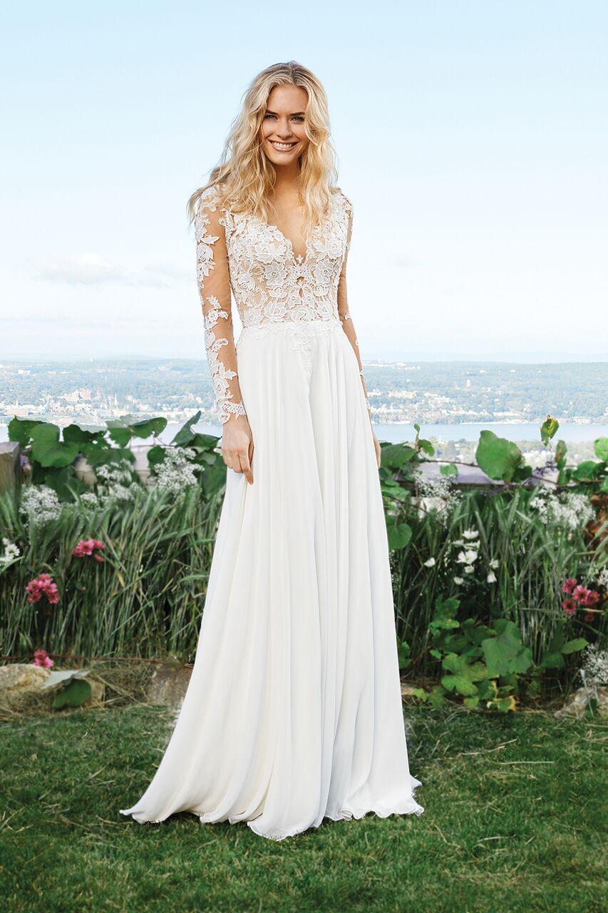64ff7027171d Bohemisk brudklänning 10 | Ramona Design Bröllopsklänningar