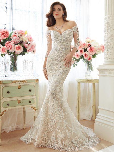 Exklusiv brudklänning EX016