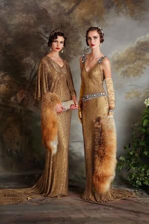20-tal Vintage brudklänning 005