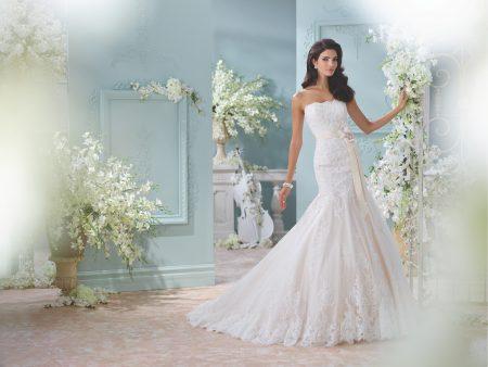 Exklusiv brudklänning EX020 Ivory pental