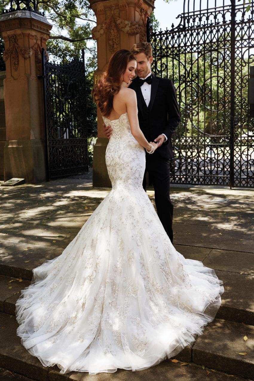 Exklusiv brudklänning EX008