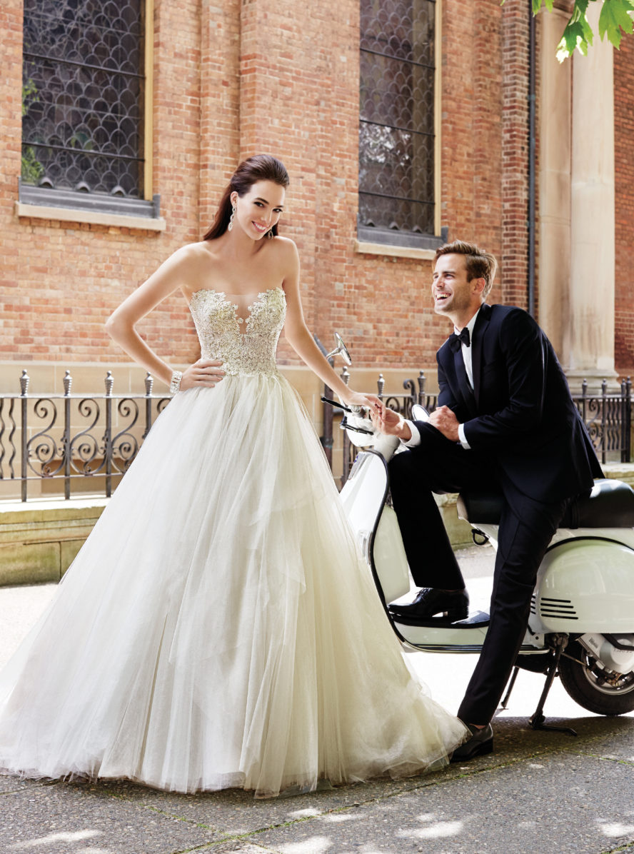 Exklusiv brudklänning EX012