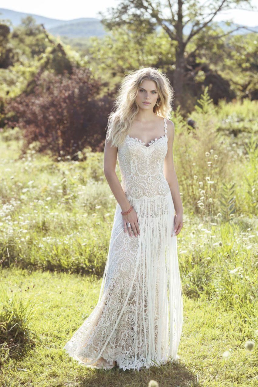 Bohemisk brudklänning B1801