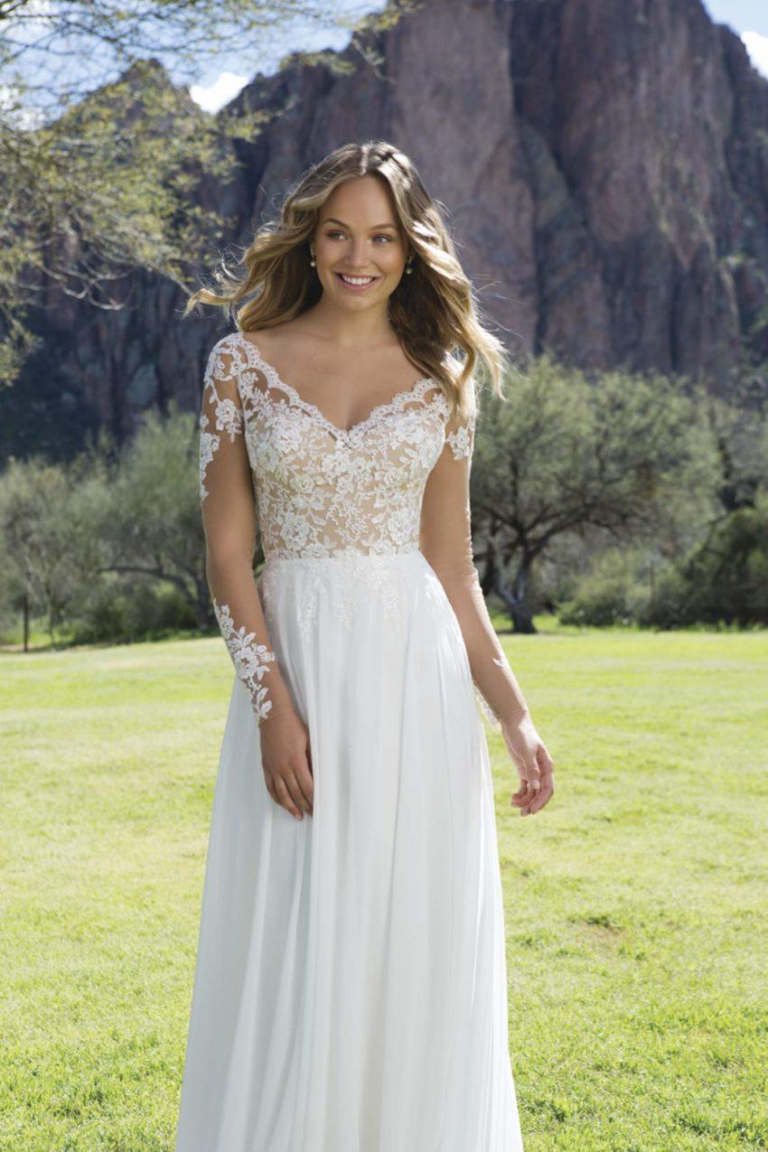 Romantisk brudklänning R1812