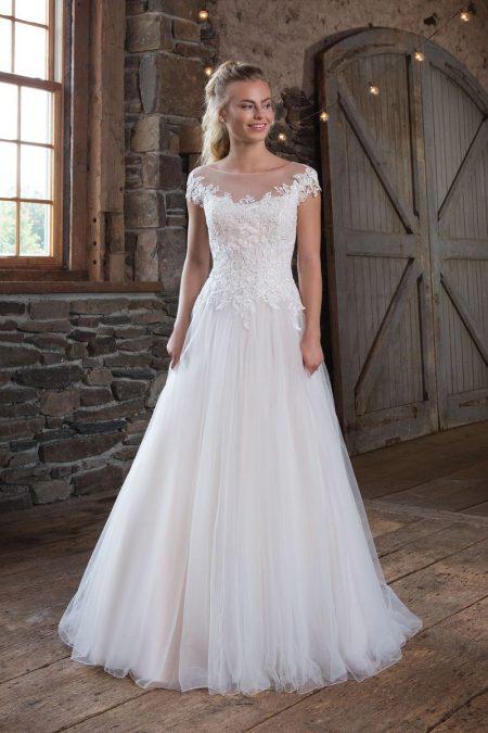 Romantisk brudklänning R1813