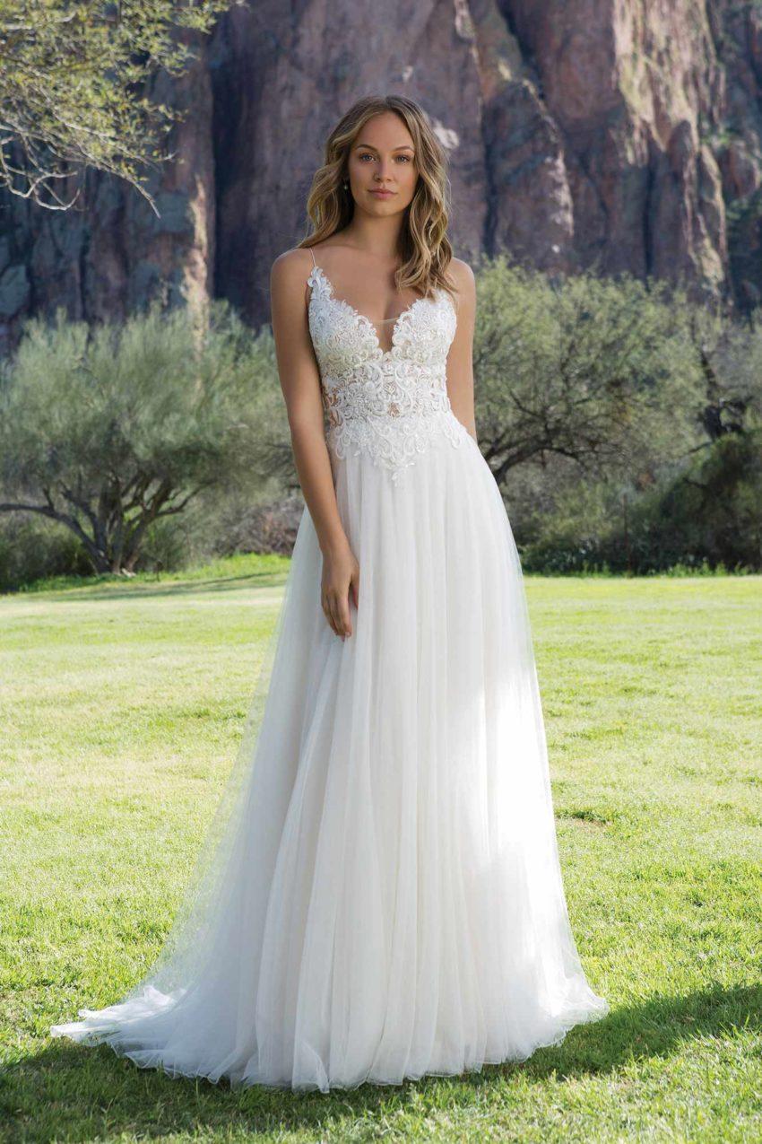 Romantisk brudklänning R1817