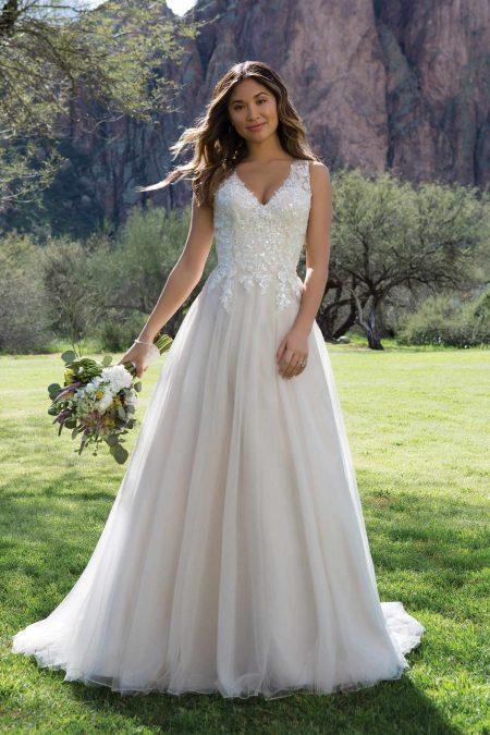 Romantisk brudklänning R1819
