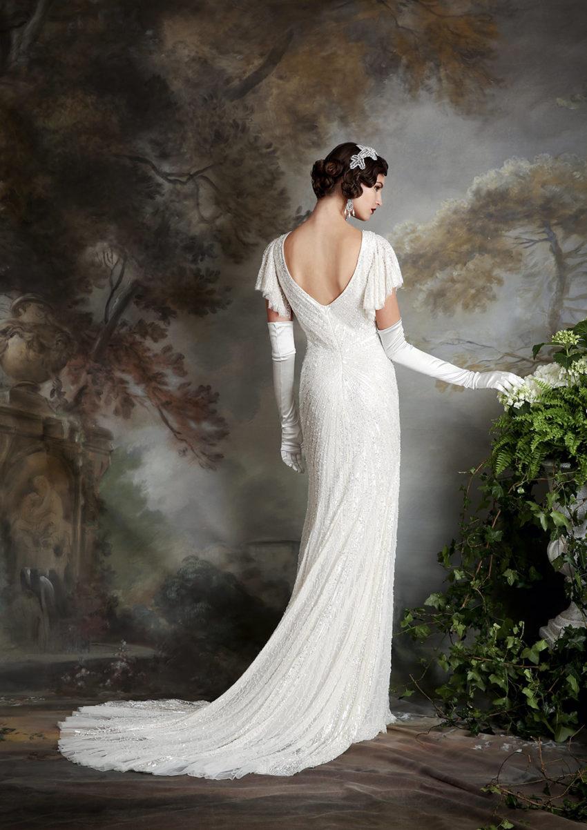 20-tal Vintage brudklänning 1801