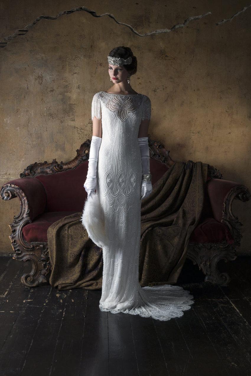 20-tal Vintage brudklänning 1802