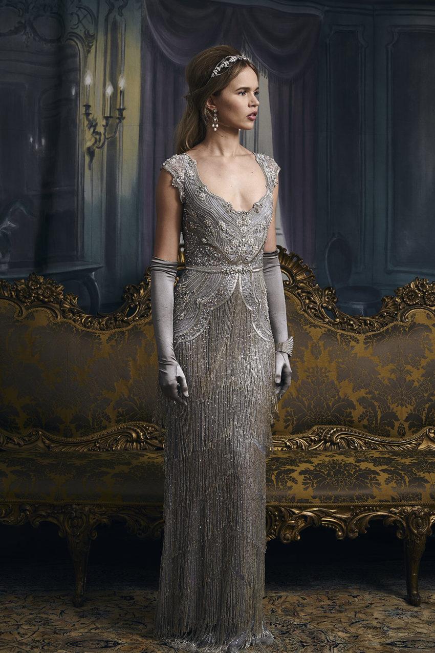 20-tal Vintage brudklänning 1805