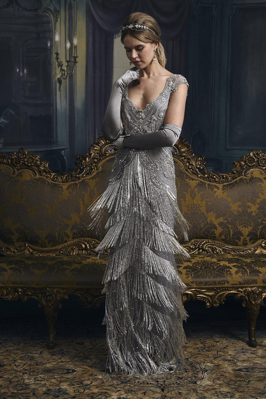 20-tal Vintage brudklänning 1806