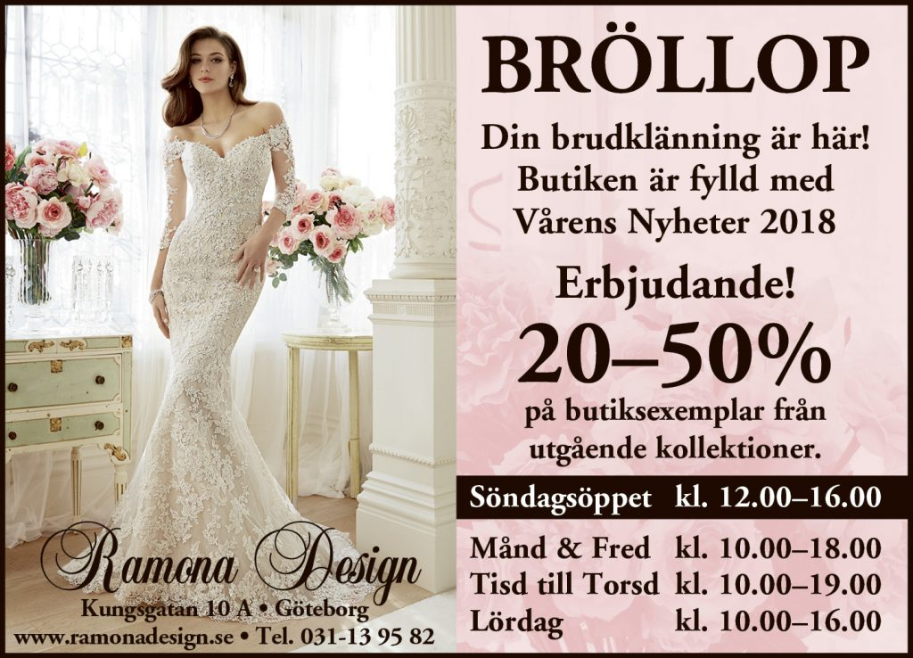 Erbjudande på brudklänning 2018