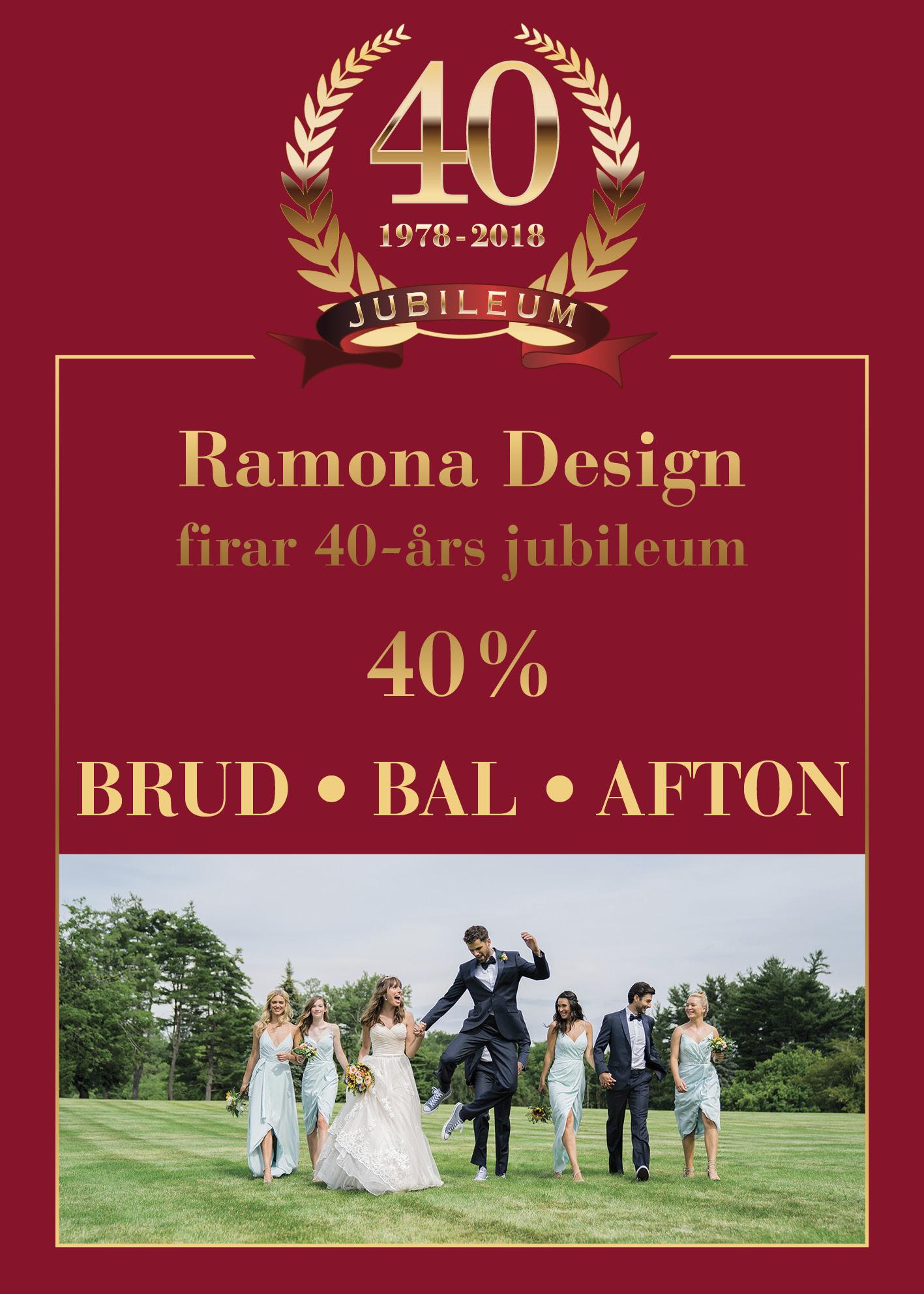 Ramona Design 40 år Erbjudande