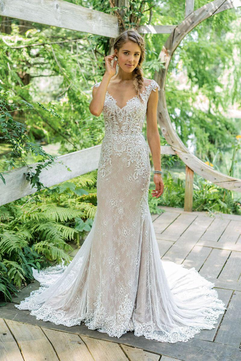 Bohemisk bröllopsklänning B1902