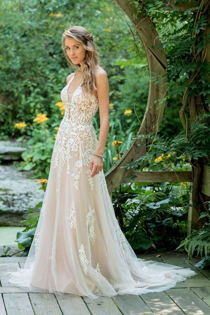 Bohemisk bröllopsklänning B1904