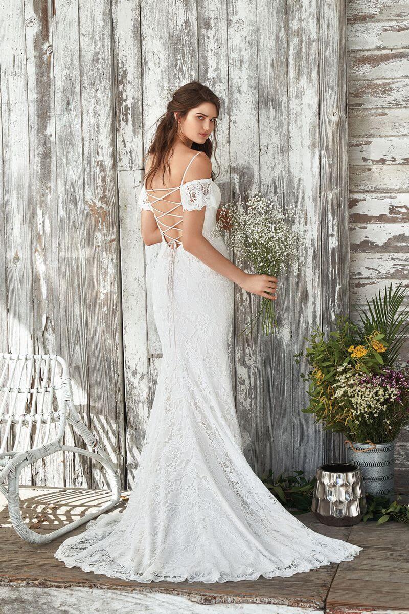 Bohemisk bröllopsklänning B1907