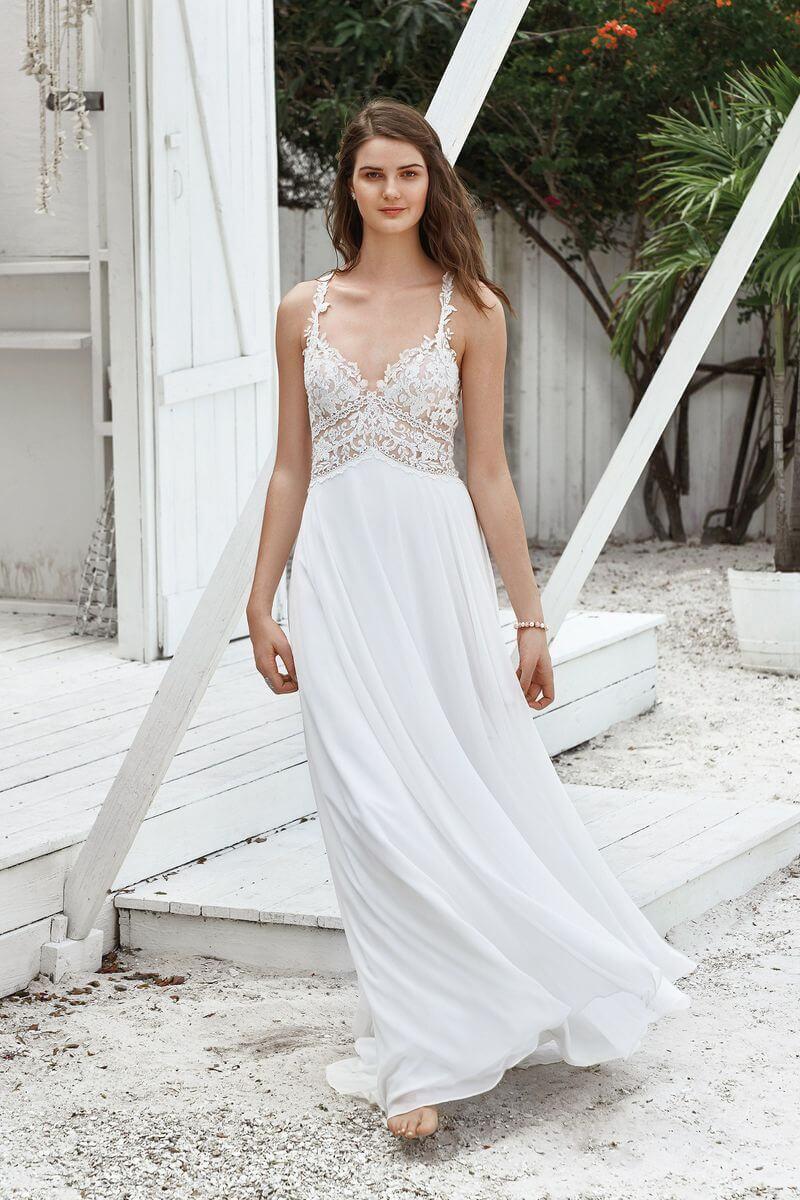 Bohemisk bröllopsklänning B1908