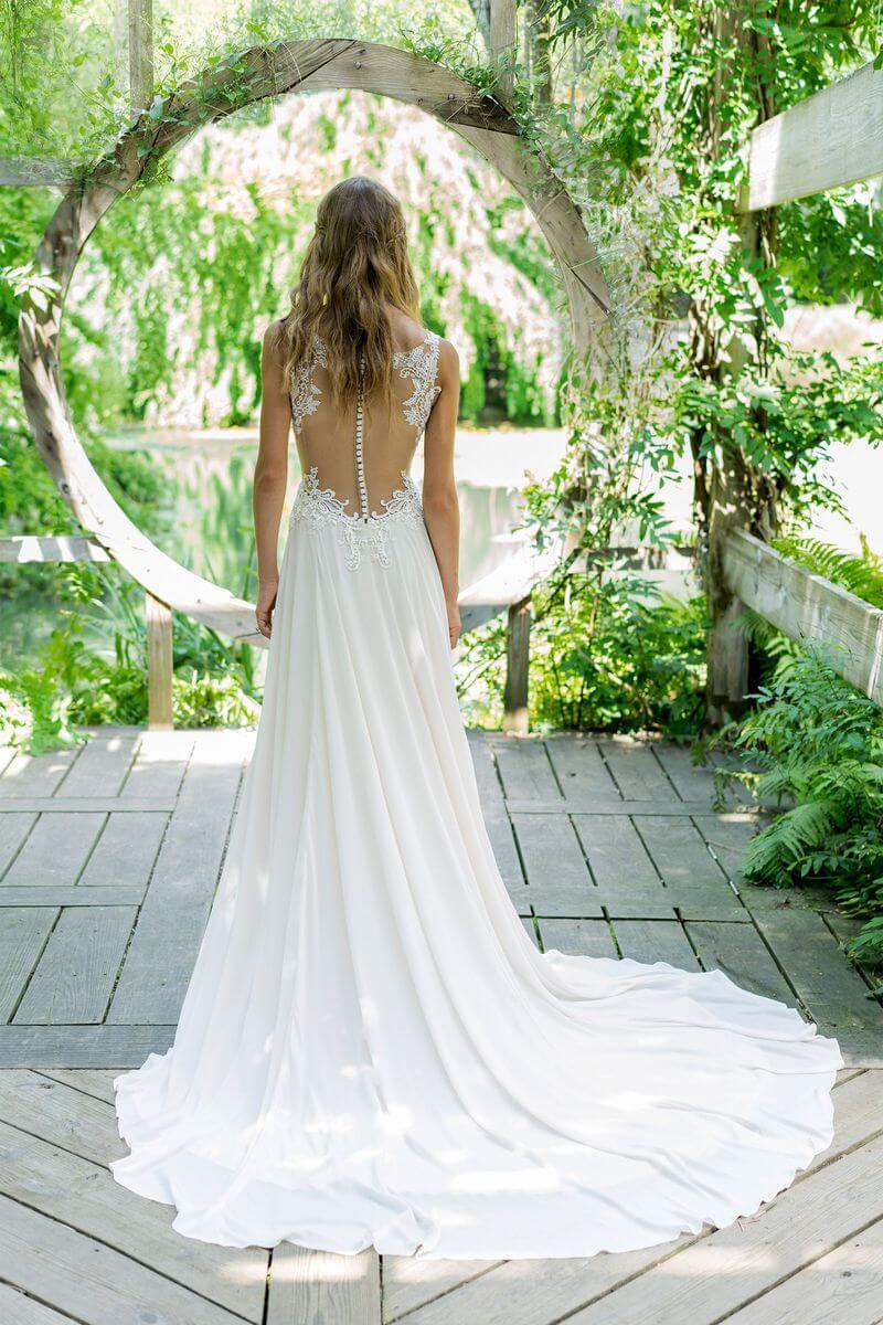 Bohemisk bröllopsklänning B1909