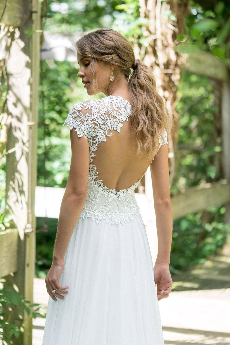 Bohemisk bröllopsklänning B1910