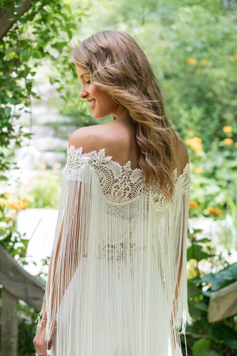 Bohemisk bröllopsklänning B1911