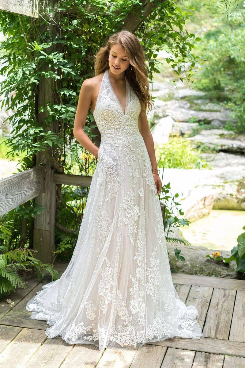 Bohemisk bröllopsklänning B1912