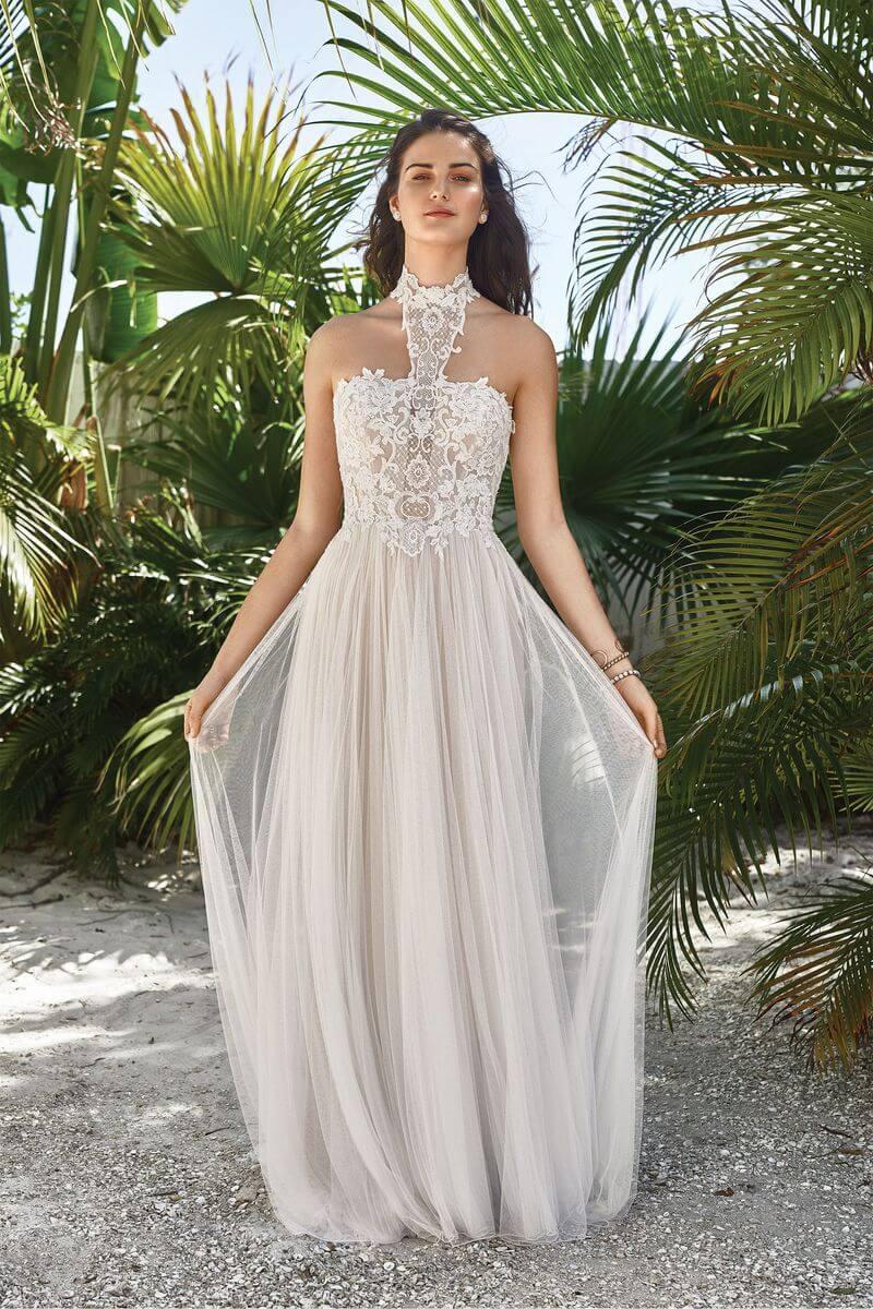 Bohemisk bröllopsklänning B1913