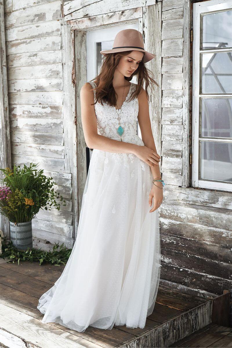 Bohemisk bröllopsklänning B1914