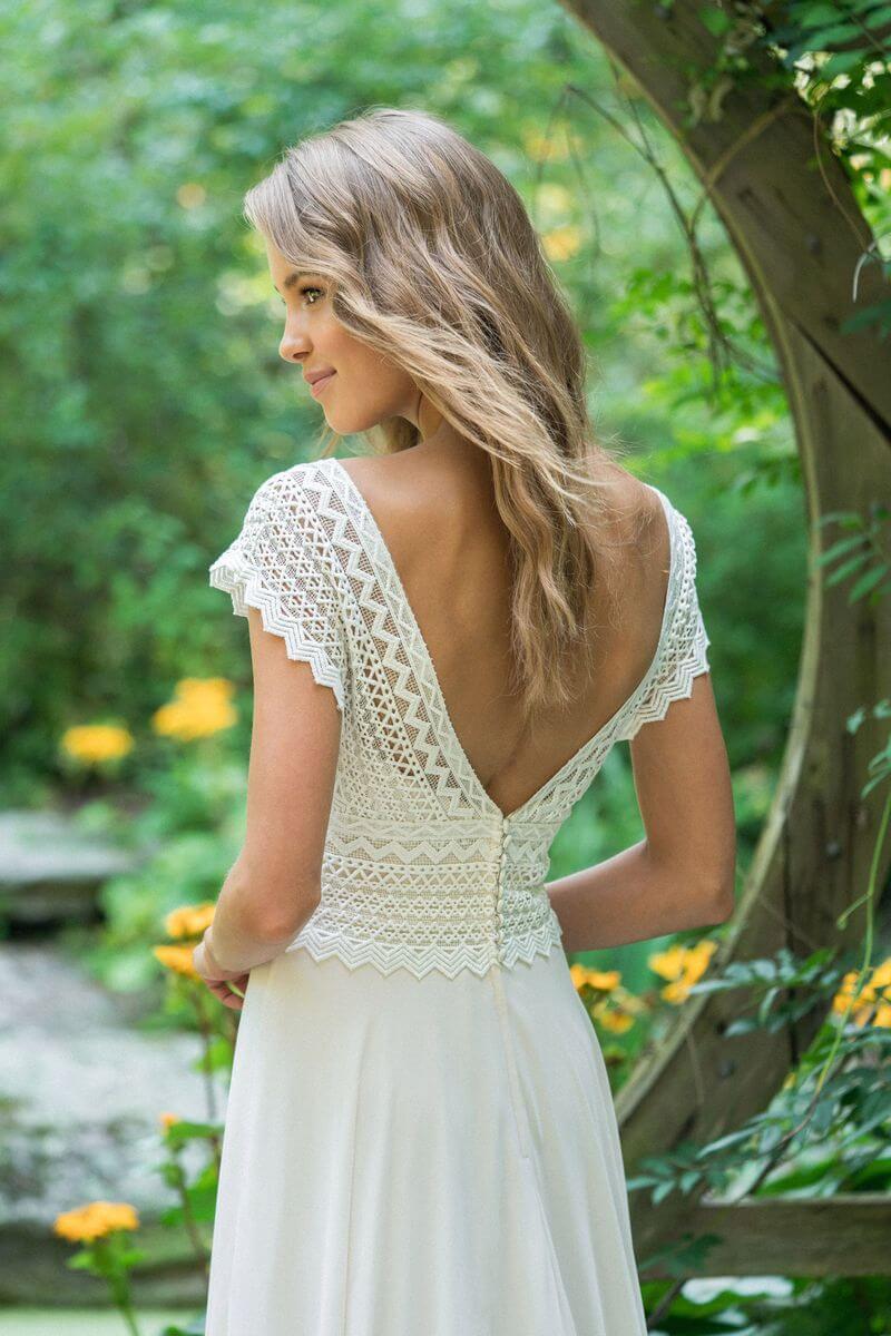 Bohemisk bröllopsklänning B1916