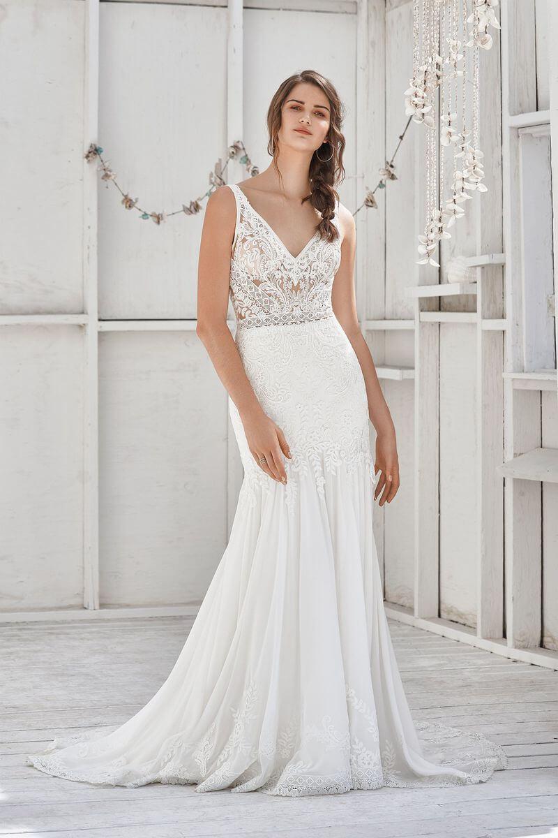 Bohemisk bröllopsklänning B1918