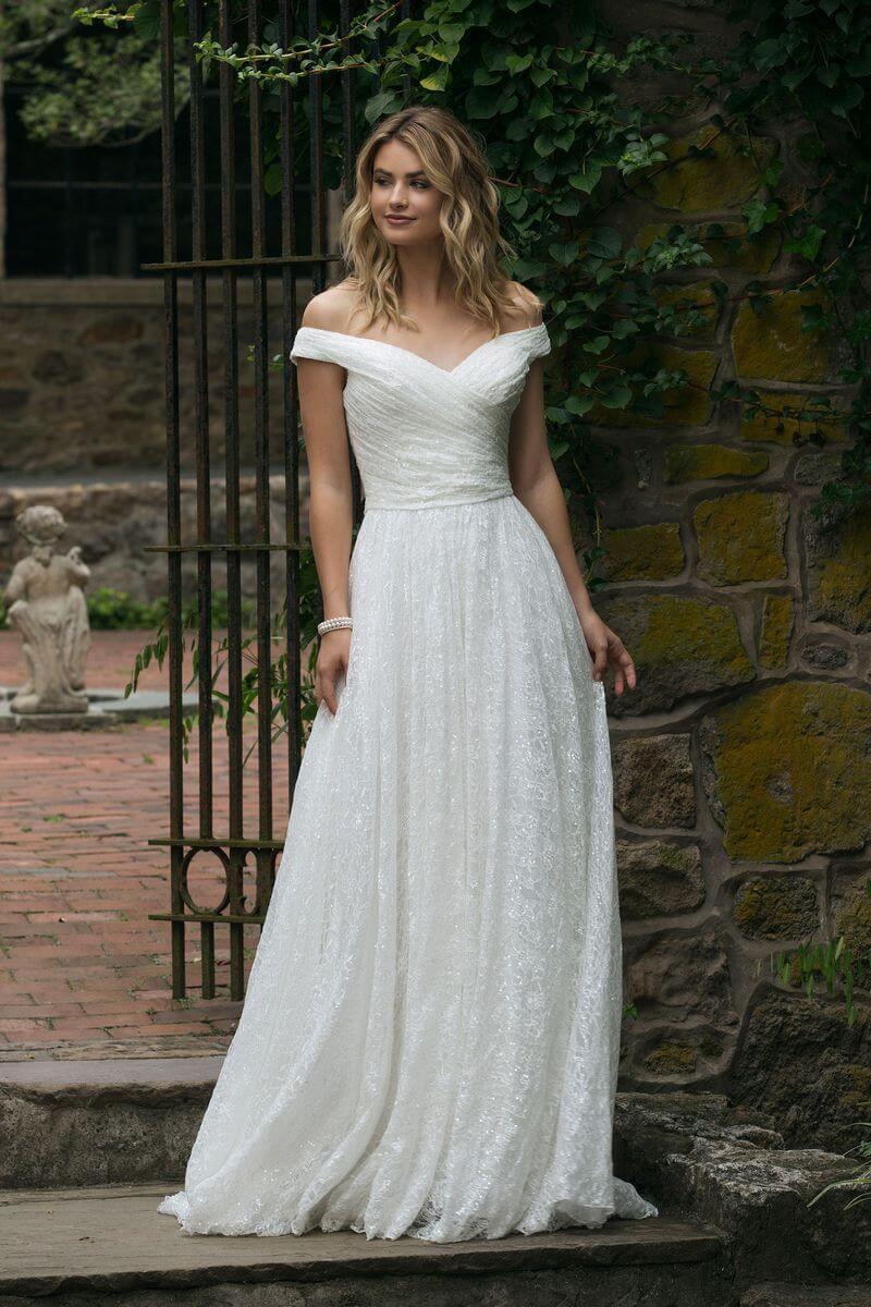 Romantisk bröllopsklänning R1905