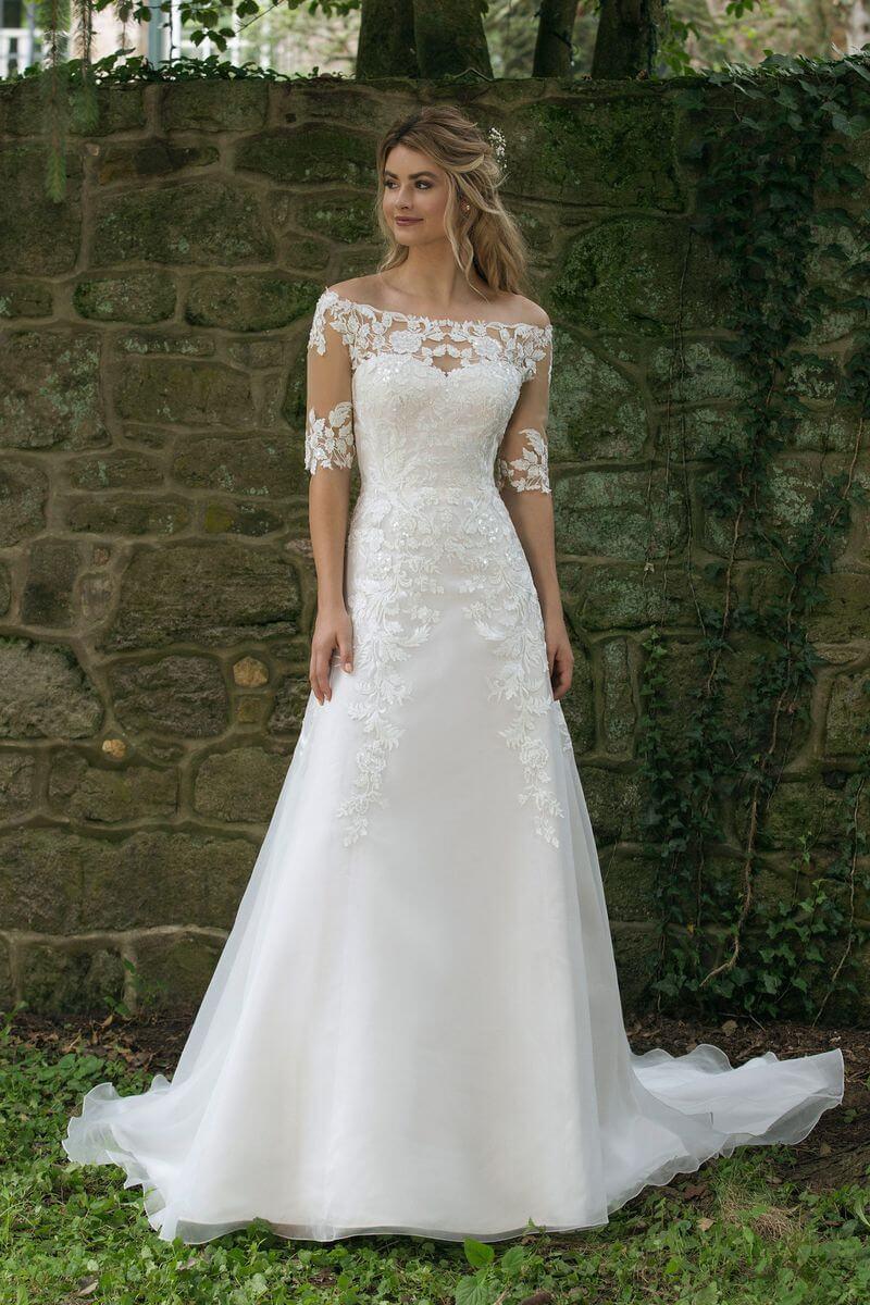 923222e4e3ba Romantisk bröllopsklänning R1908 Romantisk bröllopsklänning R1908