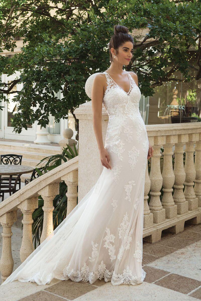 Romantisk bröllopsklänning R1917