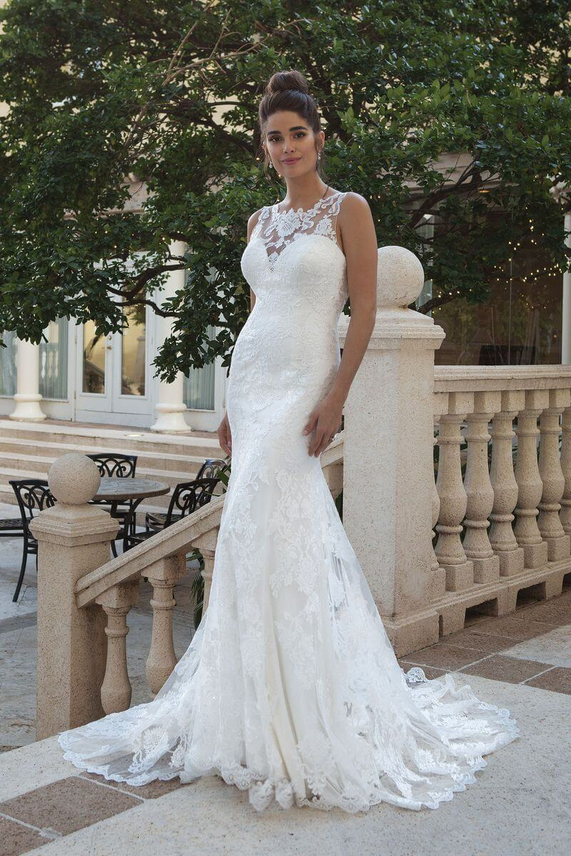 Romantisk bröllopsklänning R1918