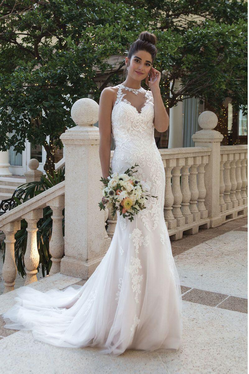 Romantisk bröllopsklänning R1919
