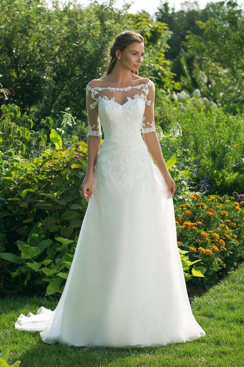 Enkel bröllopsklänning EN1905