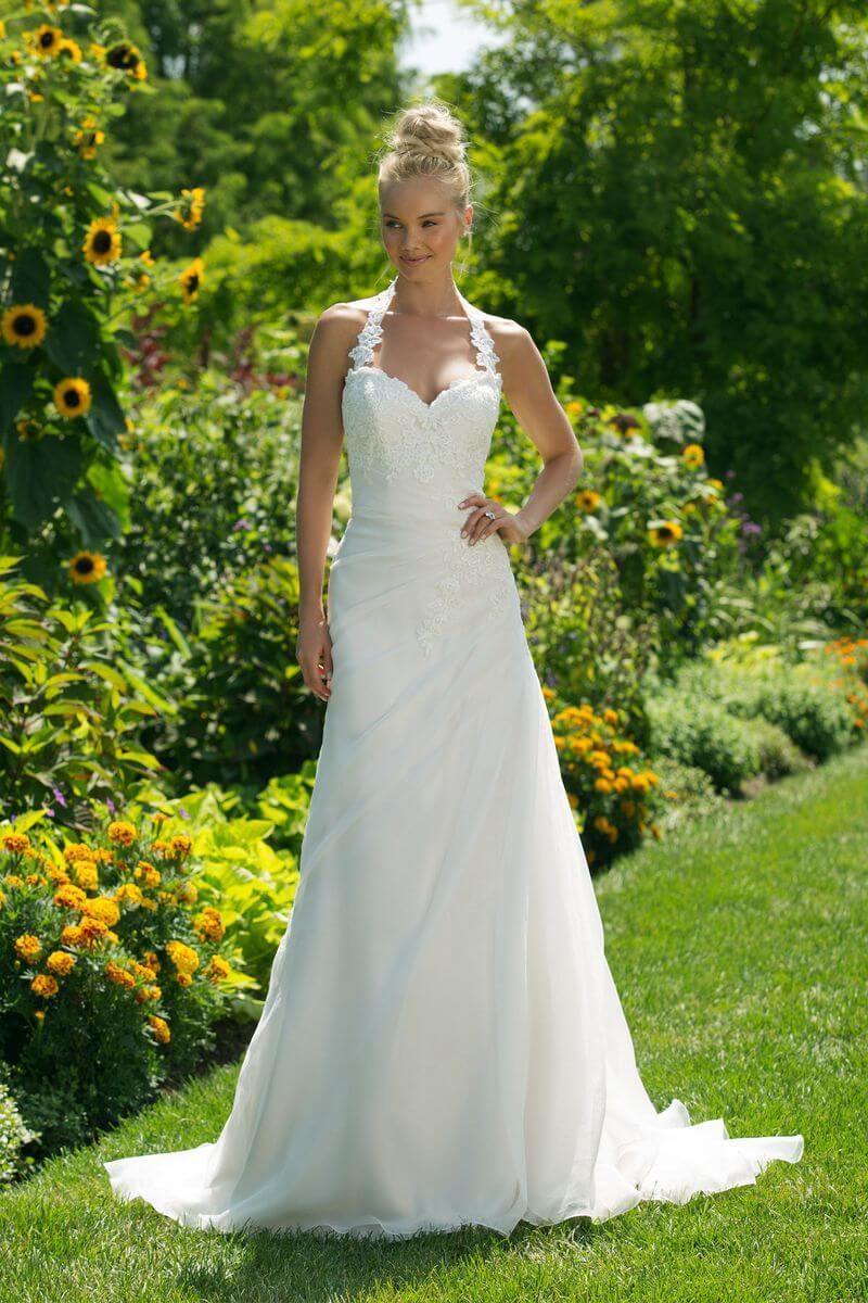 Enkel bröllopsklänning EN1906