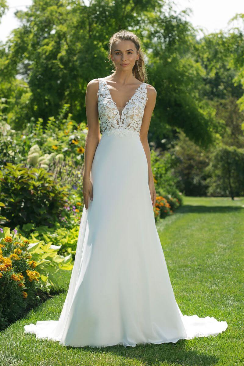 Enkel bröllopsklänning EN1907