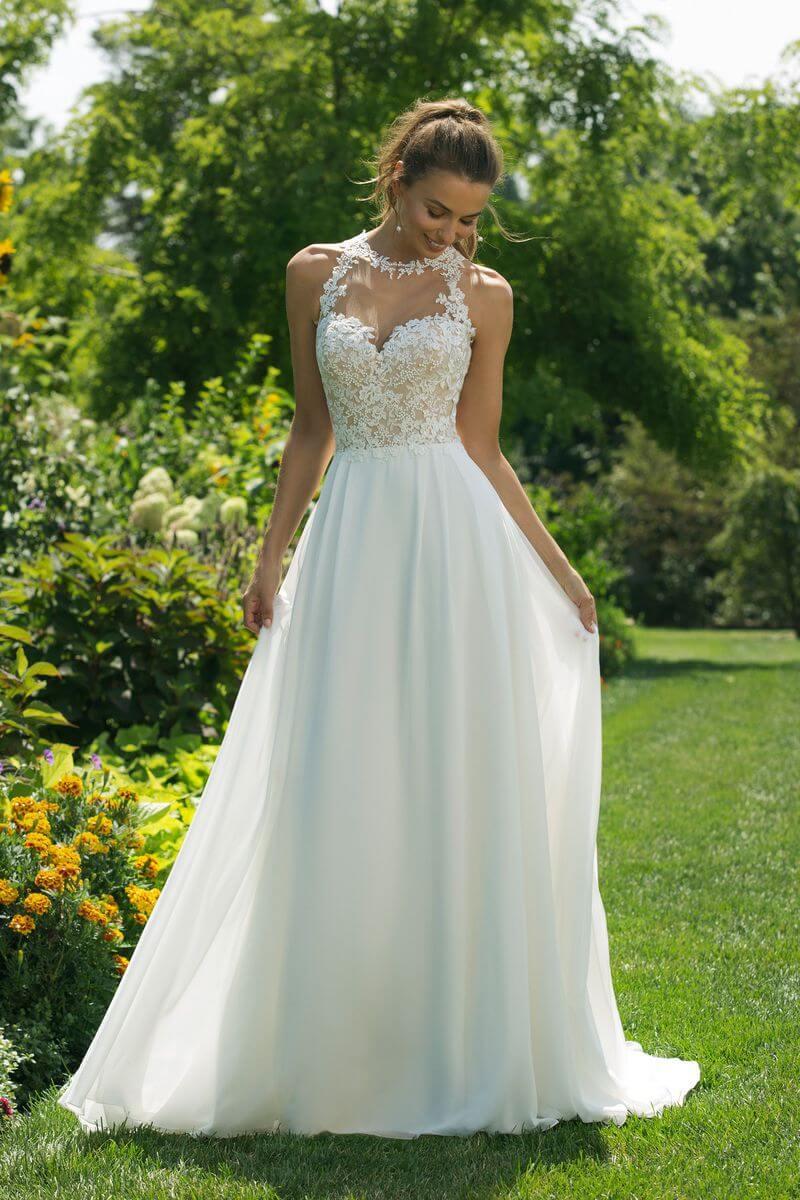 Enkel bröllopsklänning EN1908