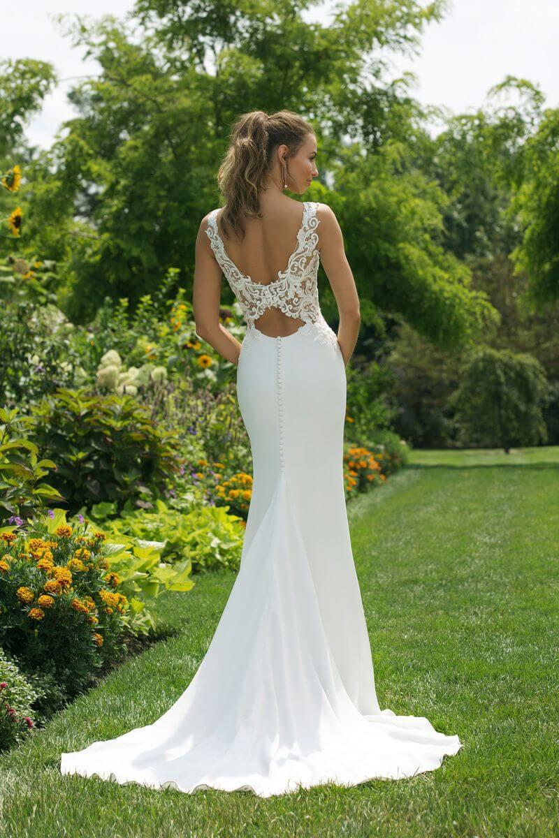 Enkel bröllopsklänning EN1909