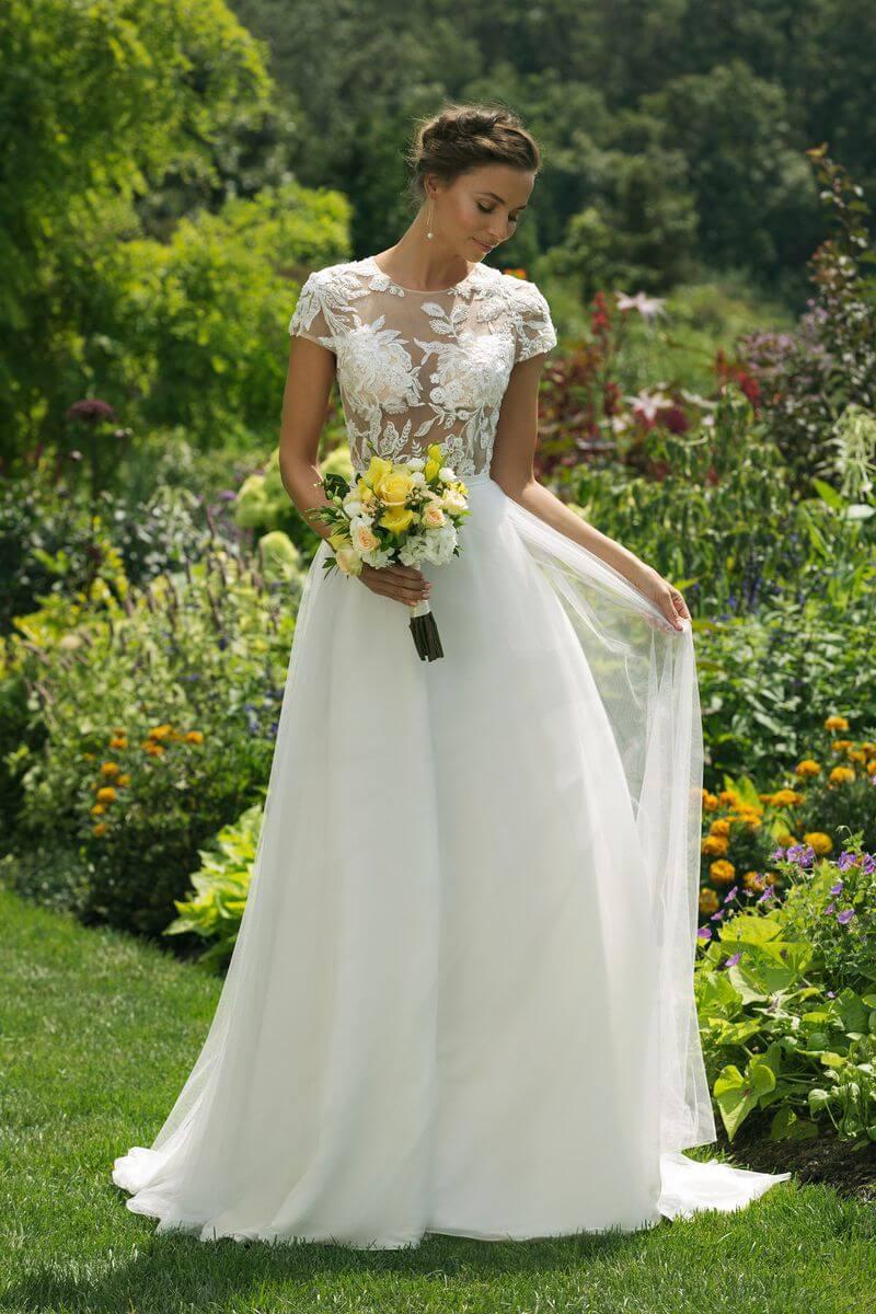 Enkel bröllopsklänning EN1910
