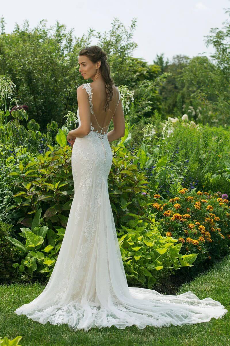 Enkel bröllopsklänning EN1912