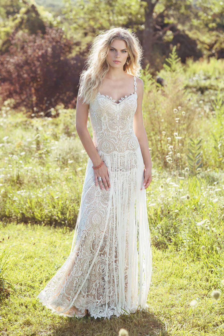 Bohemisk brudklänning B2002