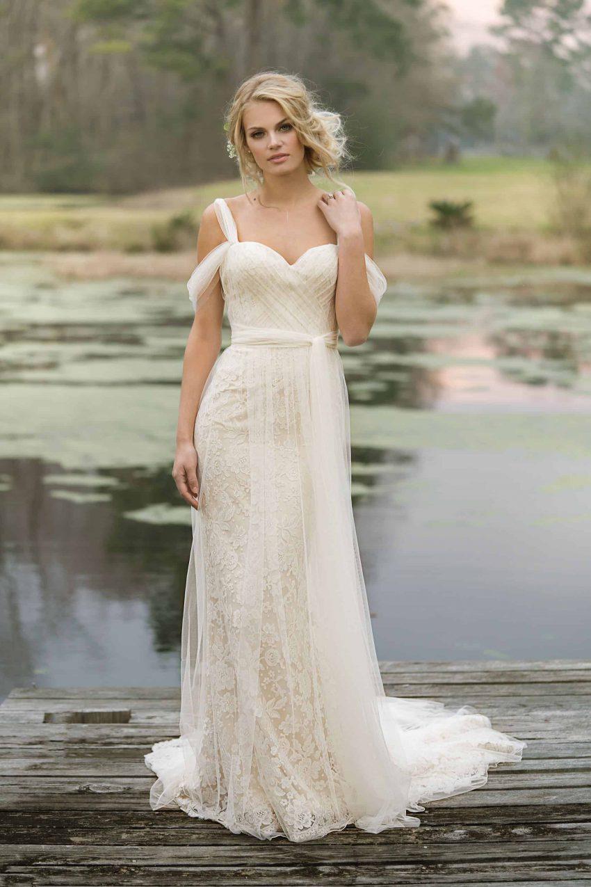 Bohemisk brudklänning B2009